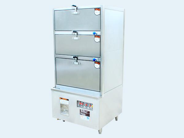 节能温控电热三门蒸柜